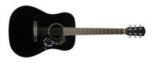 Musical Instrument - Black Acoustic Guitar Country Flower Bird Pickguard