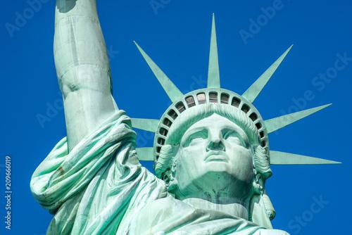 Tuinposter New York City Freiheitsstatue als Symbol der Demokratie und Freiheit, USA
