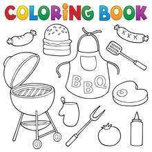Coloring Book Barbeque Set 1