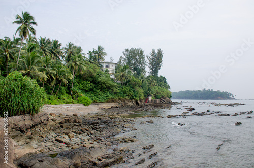 Fotobehang Wit The landscape the island of the Andaman Sea in India protected with tropical plants