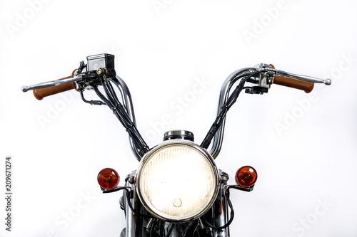 Cuadros en Lienzo Close up of headlight on vintage motorcycle