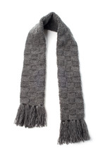 Gray Warm Scarf On A White Background