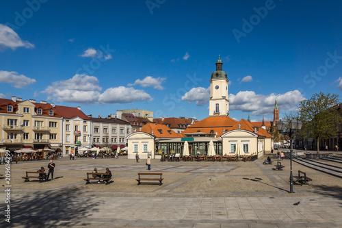 Obraz Rynek Kościuszki w Białymstoku, Podlaskie, Polska - fototapety do salonu