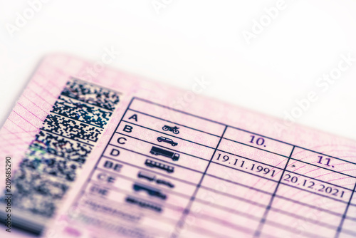 Fotografía  the driver-license; categories