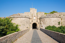 The Medieval Gate Ampuaz In Rh...