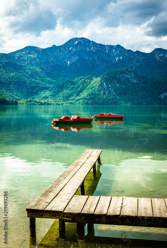 Photo kochel lake - bavaria