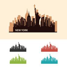 New York City Skyline Logo Template