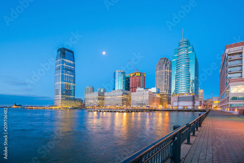 View from Hudson River Waterfront in Jersey City Poster Mural XXL