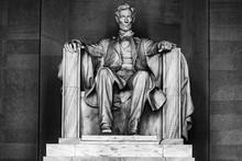 WASHINGTON, USA - JUNE 24 2016 - Lincoln Statue At Memorial In Washington DC