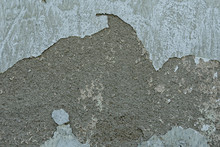Wall With Crashed White Plaster Texture