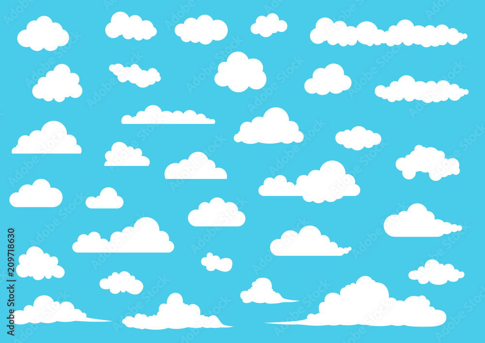 Fototapety, obrazy: Cloud vector set