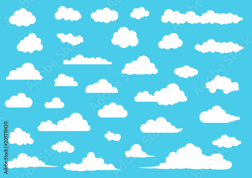 Obraz Cloud vector set - fototapety do salonu
