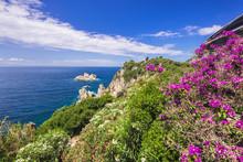 Beautiful Landscape Near Paleokastritsa Village, Corfu Island, Greece