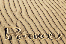 Peace Written In The Rippled Sand At Great Sand Dunes National Park And Preserve, Colorado