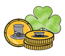 Clover And Coins With Irish To...