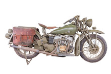 Vintage Motorcycle,isolated On...