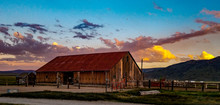 Sunset Over The Hunewill Ranch...
