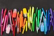 canvas print picture - Verschiedene bunte Stifte