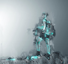 Concept Image Of Hiking Girl