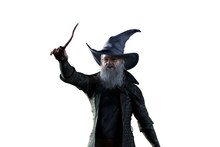 3D Illustration Of An Elderly The Wizard