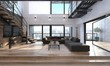 Leinwanddruck Bild - Modern living room interior in a penthouse
