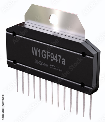 Integrated circuit or micro chip on isolated  Computer parts