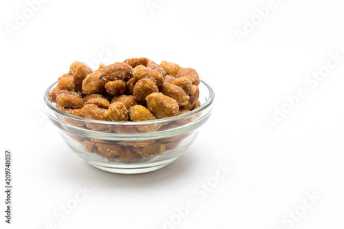 Keuken foto achterwand Voorgerecht Cacahuetes fritos con miel