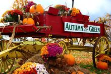 Autumn Flower Wagon