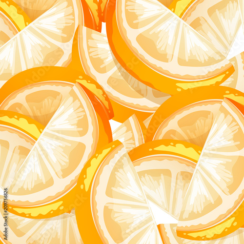 Deurstickers Kids A Seamless Orange Fruit Background
