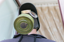 Dummy In A Gas Mask.
