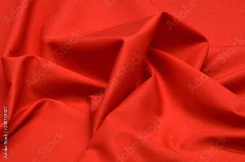 Red batiste made of 100% cotton. Canvas Print