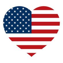 American Flag Inside Heart - V...