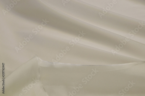 Lining fabric made of acetate and elastan in the color of ivory Canvas Print