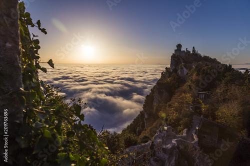 walk path over cloud San Marino