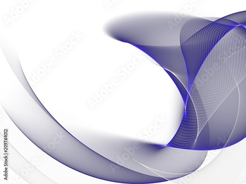 Staande foto Abstract wave Abstract blue background with wave, illustration