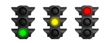 Traffic Lights Isolated On Whi...
