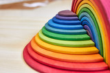 Fototapeta Tęcza - Waldorf rainbow and semicircle
