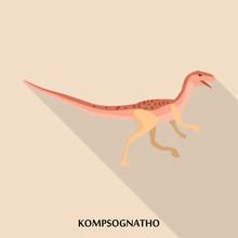 Kompsognatho Icon. Flat Illust...