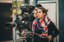 Behind The Scene. Cameraman An...