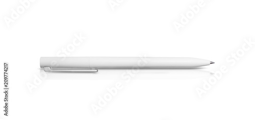 White pen isolated on a white background, with clipping path Fototapete