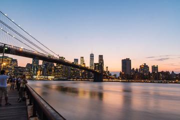 fiume riflesso città lunga esposizione New York