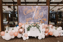 Wedding Candy Bar Decorated Wi...