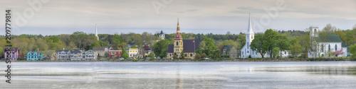 Fotomural Panorama of the three churches of Mahone Bay, Nova Scotia