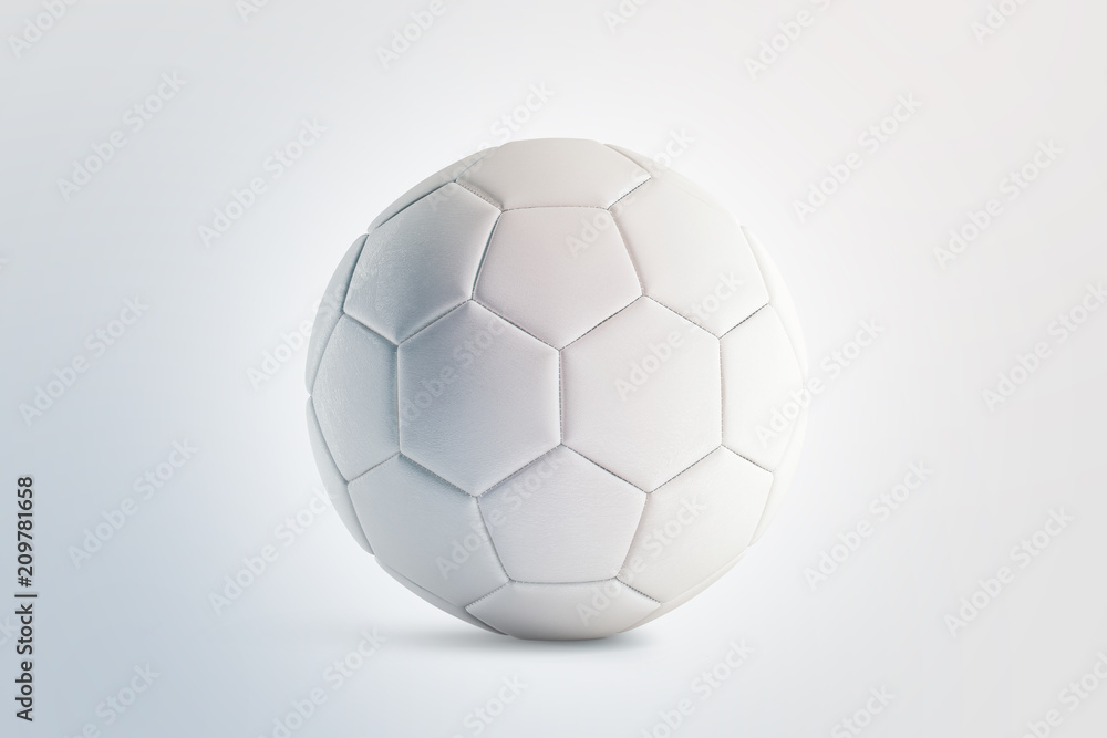 Photo  Blank white soccer ball mock up, front view, 3d rendering