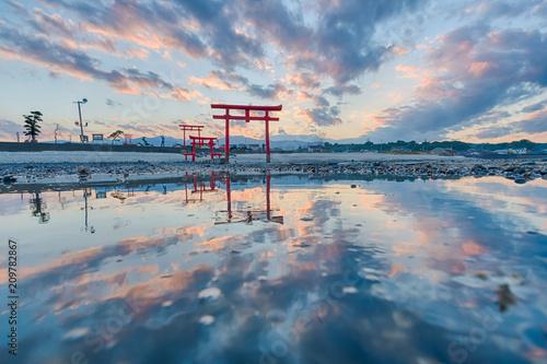 Foto op Plexiglas Historisch geb. 佐賀 海中鳥居
