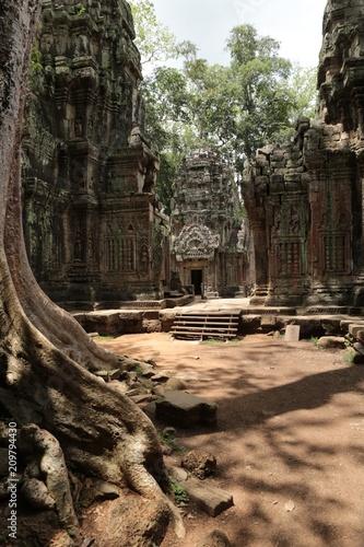 In de dag Bedehuis Temple Khmer d'Angkor