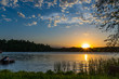 canvas print picture - Summer sunset over lake in Minnesota