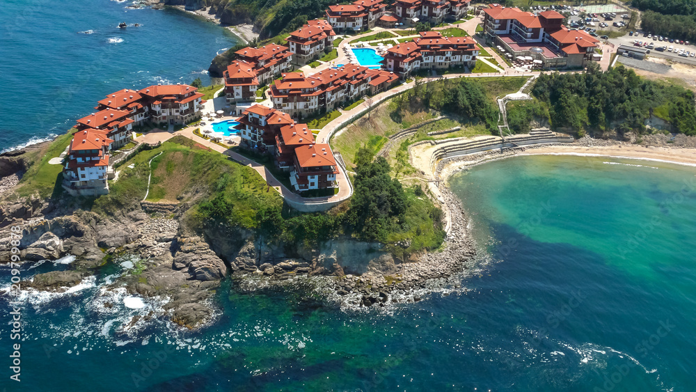 Fototapety, obrazy: Aerial view of Arkutino Region near resort of Dyuni, Burgas Region, Bulgaria