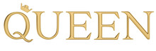 The Gold Word Queen Isolated O...
