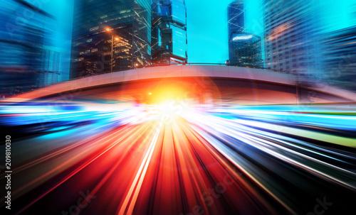 Plakat Tło miasta prędkości ruchu